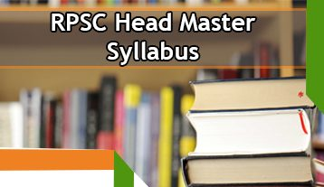 RPSC Head Master Syllabus 2020