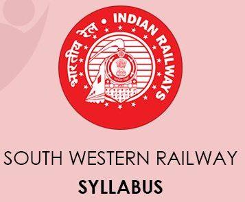 South Western Railway Syllabus 2020
