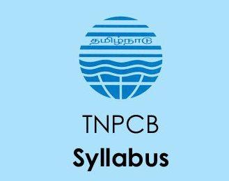 TNPCB Syllabus 2020