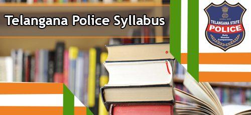 Telangana Police Syllabus 2020