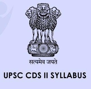 UPSC CDS Syllabus 2020