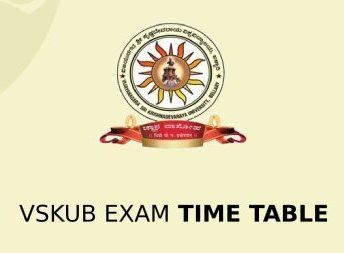 VSKUB Exam Time Table 2020