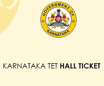 Karnataka TET Admit Card 2020