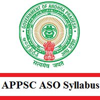 APPSC ASO Syllabus 2020