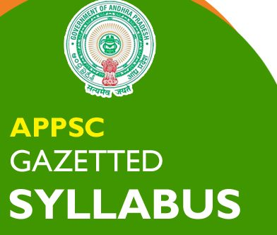 APPSC Gazetted Officer Syllabus 2020