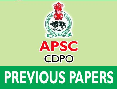 APSC CDPO Operator Previous Question Papers