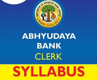 Abhyudaya Bank Clerk Syllabus 2020
