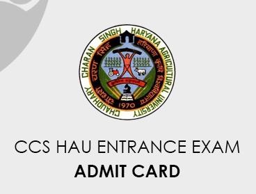 CCS HAU Entrance Exam Admit Card 2020