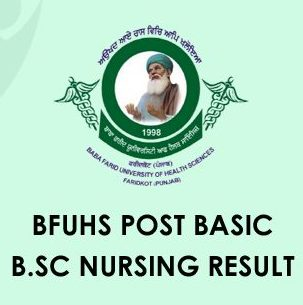 BFUHS Post Basic B.Sc Nursing Result 2020