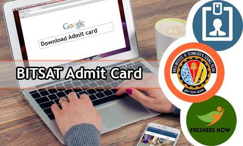 BITSAT 2020 Admission Card (Exit) @ bitsadmission.com | Exam, reservation of places