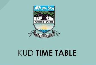 KUD Time Table 2020