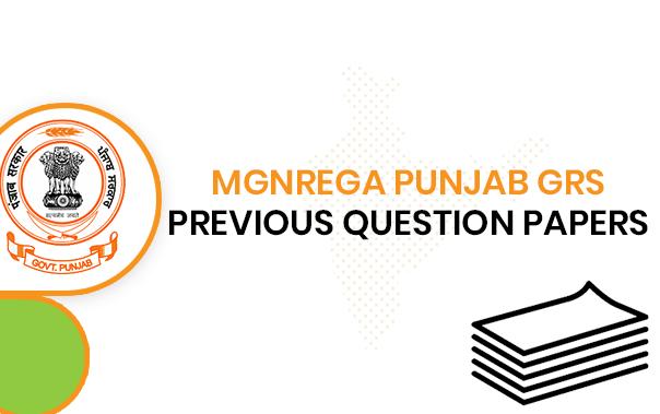 MGNREGA Punjab GRS Previous Questions Paper