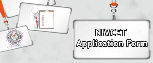 NIMCET 2020 Application Form
