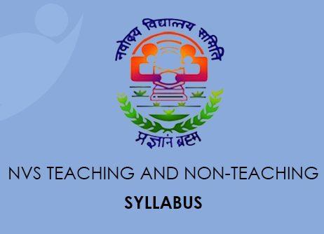 NVS Teaching and Non-Teaching Syllabus 2020