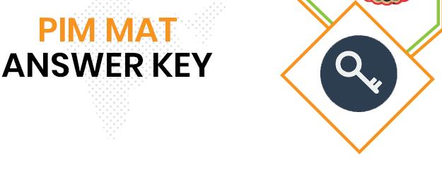 PIM MAT Answer Key 2020