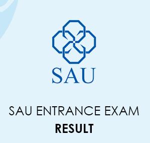 SAU Entrance Exam Result 2020