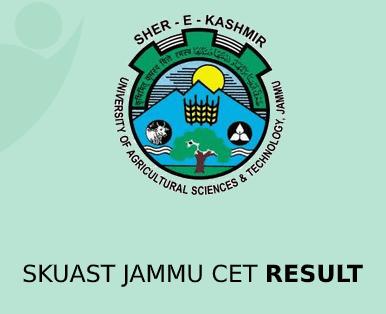 SKUAST Jammu CET Result 2020