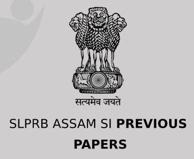 SLPRB Assam SI Previous question Papers