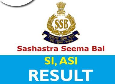 SSB SI ASI Result 2020