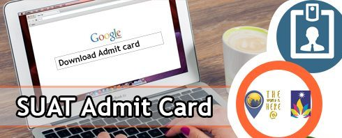 SUAT Admit card 2020