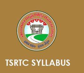 TSRTC Syllabus 2019