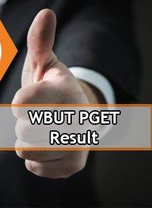 WBUT PGET Result 2020