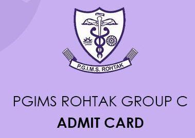 PGIMS Rohtak Staff Nurse Admit Card 2020