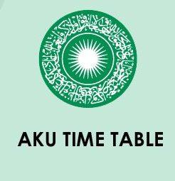AKU Bihar Time Table 2020