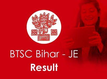 BTSC Bihar JE Result 2020