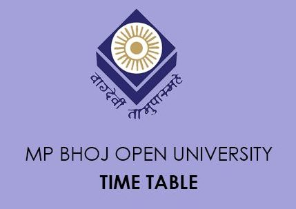 MP Bhoj University Time Table 2020
