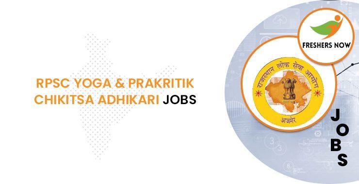 RPSC Yoga Chikitsa Adhikari Jobs 2020