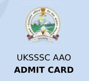 UKSSSC AAO Admit Card 2020