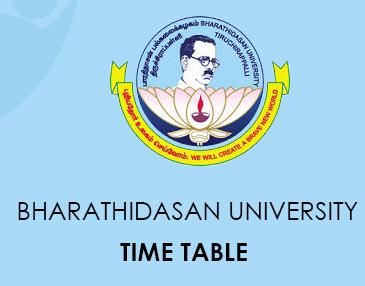 Bharathidasan University Calendar 2020
