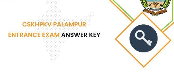 CSKHPKV Palampur Entrance Exam Answer Key 2020