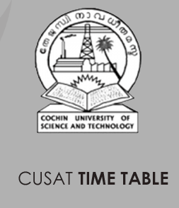 CUSAT Time Table 2020