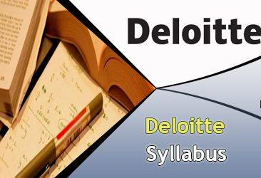 Deloitte Syllabus 2020