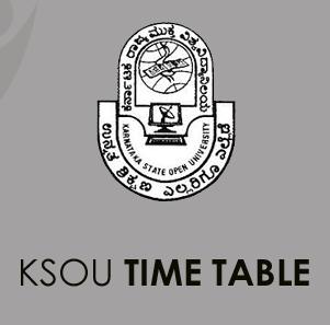 KSOU Time Table 2020