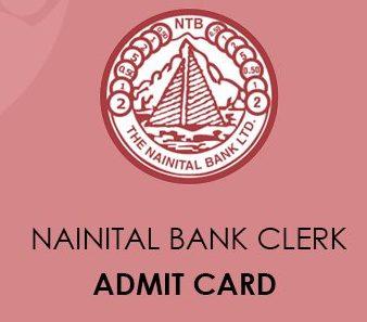 Nainital Bank Admit Card 2020