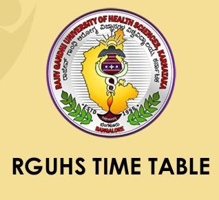 RGUHS Time Table 2020
