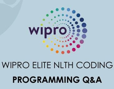 Wipro Elite NLTH Encoding Programming Questions