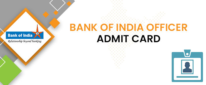 Bank of India Officer Admit Card 2020