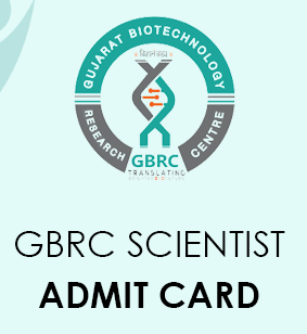 GBRC Scientist Admit Card 2021