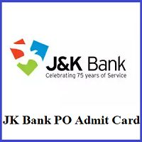 JK Bank PO Admit Card 2020