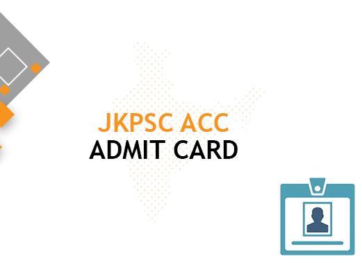 JKPSC ACC Admit Card 2020