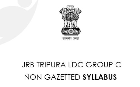 JRB Tripura LDC Group C Syllabus 2021