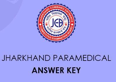 Jharkhand Paramedical Answer Key 2020