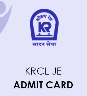 KRCL JE Admit Card 2021
