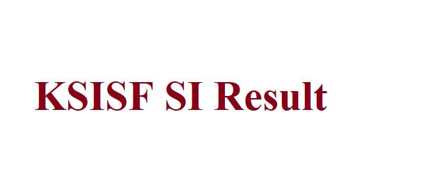 KSISF SI Result 2021