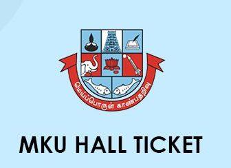 MKU Hall Ticket 2020