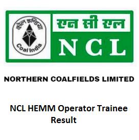 NCL HEMM Operator Trainee Result 2020